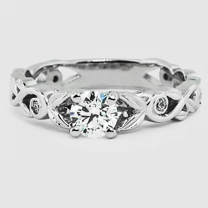 18K White Gold Forever Spring Diamond Ring