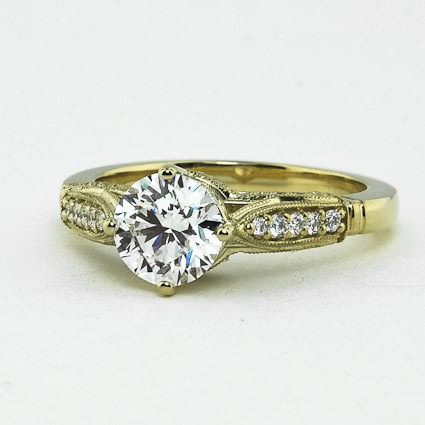 18K Yellow Gold Heirloom Diamond Ring (1/4 ct. tw.)
