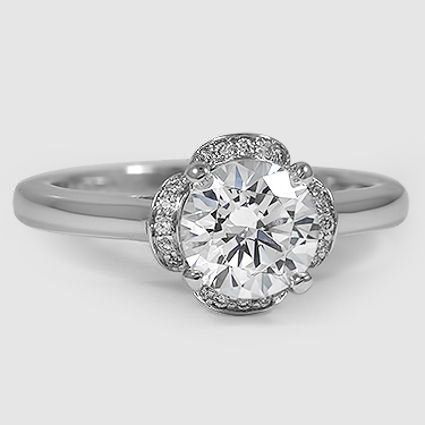 18K White Gold Fleur Diamond Ring (1/4 ct. tw.)