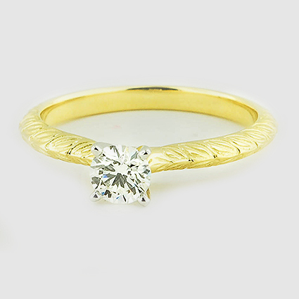 18K Yellow Gold Garland Ring