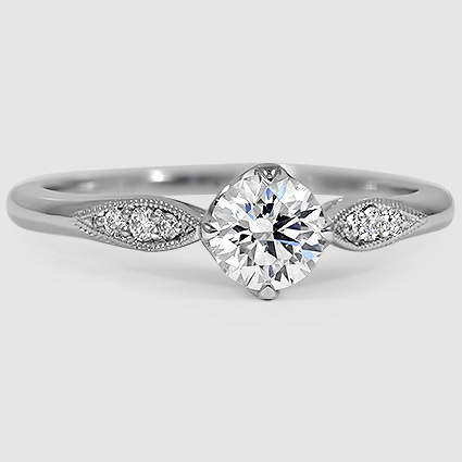 18K White Gold Jolie Diamond Ring