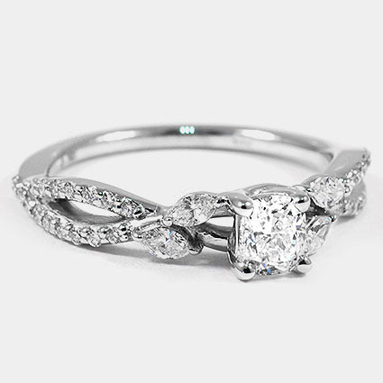 18K White Gold Luxe Willow Diamond Ring (1/3 ct. tw.)