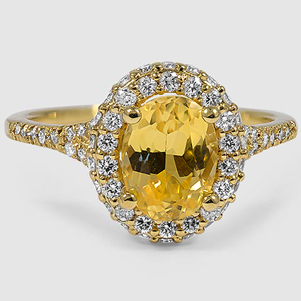18K Yellow Gold Sapphire Circa Diamond Ring (1/2 ct. tw.)