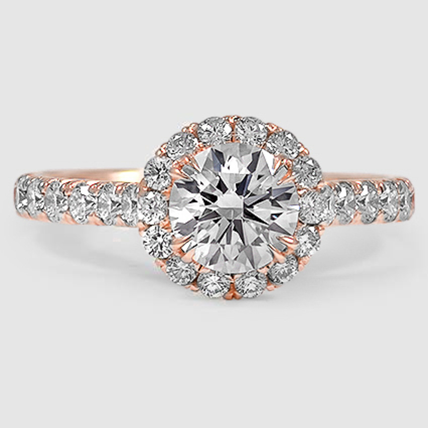 14K Rose Gold Stella Diamond Ring