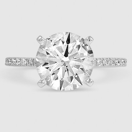 18k white gold luxe ballad 293 carat round lab diamond