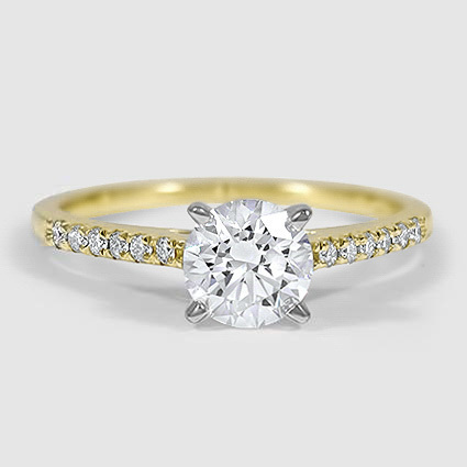 18K Yellow Gold Sonora Diamond Ring