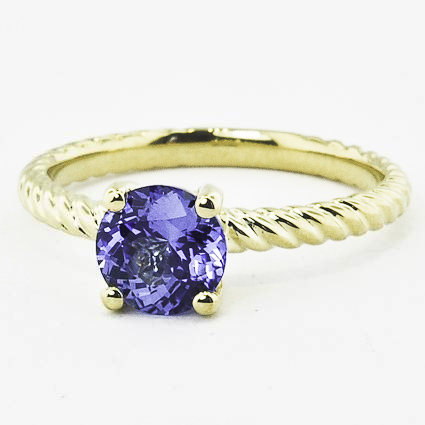 18K Yellow Gold Sapphire Entwined Ring
