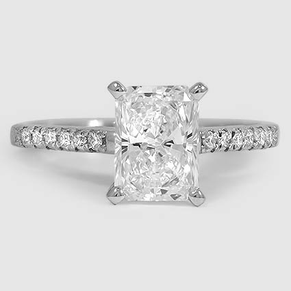 Platinum Sonora Diamond Ring