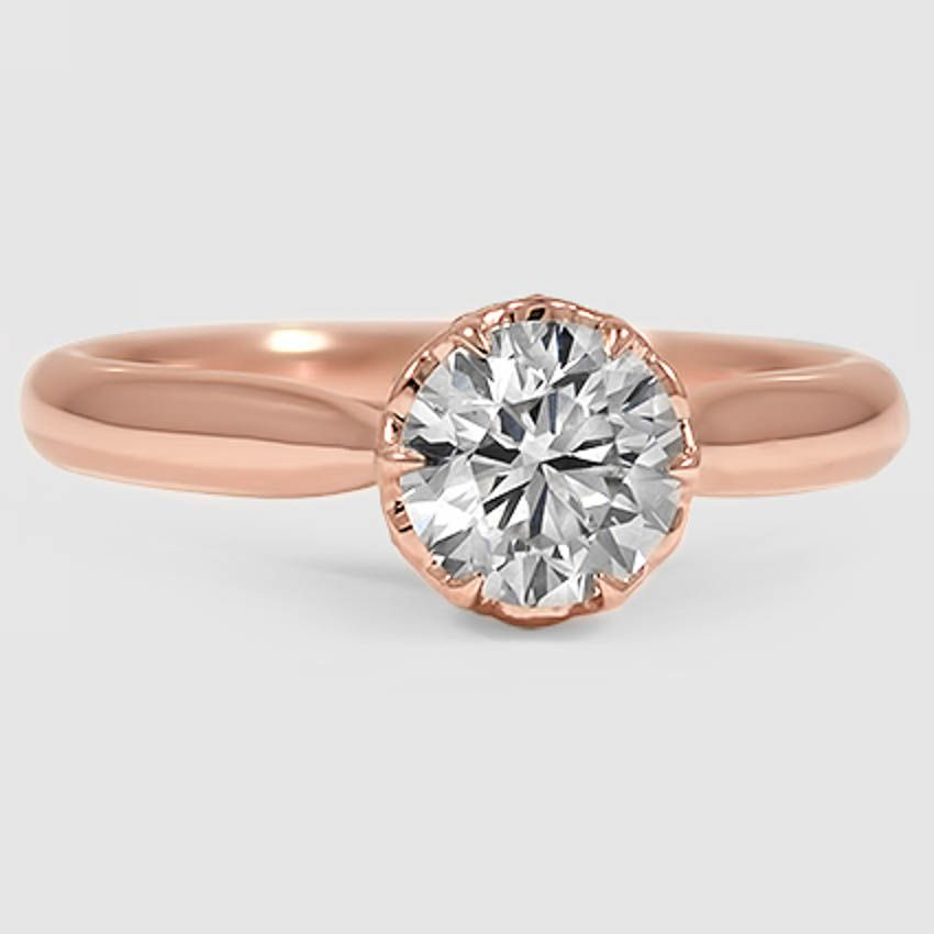 14K Rose Gold Pirouette Diamond Ring