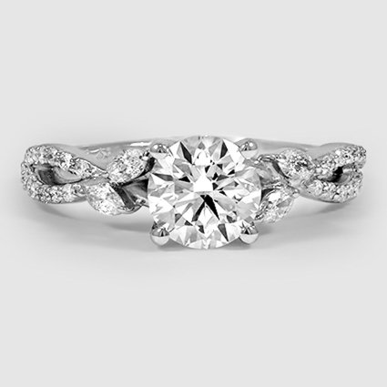 Platinum Luxe Willow Diamond Ring (1/3 ct. tw.)