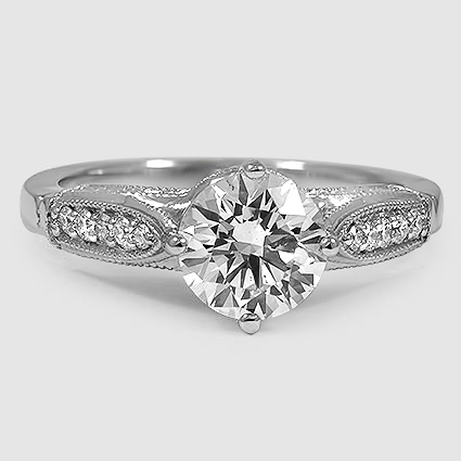 Platinum Heirloom Diamond Ring (1/4 ct. tw.)