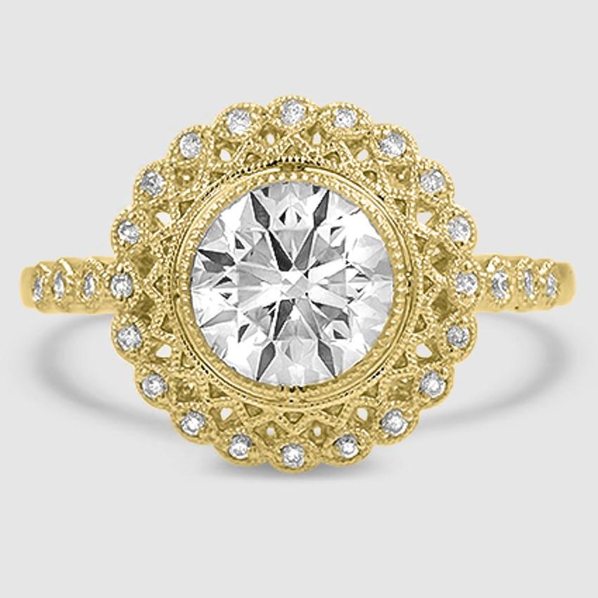 Vintage Halo Ring Alvadora