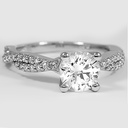 Platinum Twisted Vine Diamond Ring (1/4 ct. tw.)