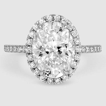 18k White Gold Waverly. 3.06 Carat Oval Lab Diamond ...