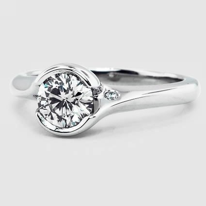 Platinum Cascade Ring with Diamond Accents