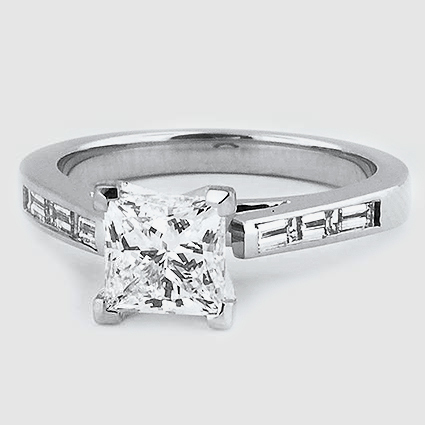 18K White Gold Meridian Diamond Ring