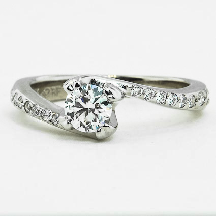 18K White Gold Seacrest Ring with Diamond Accents