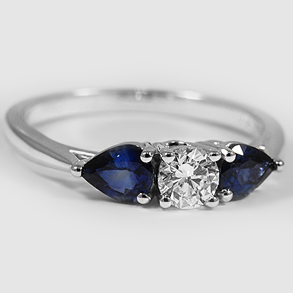 18K White Gold Forget Me Not Ring