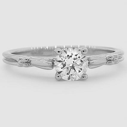 18K White Gold Primrose Ring