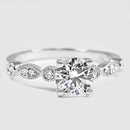 18K White Gold Tiara Diamond Ring
