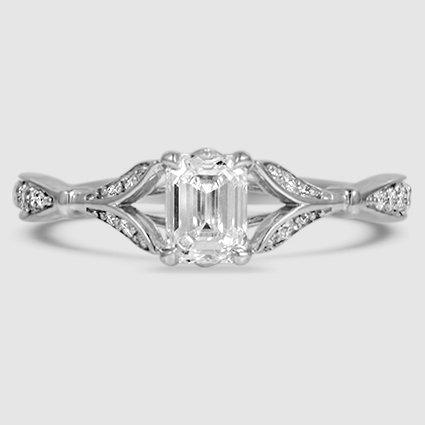 18k white gold zinnia 103 carat emerald diamond