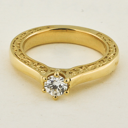 18K Yellow Gold Secret Garden Ring