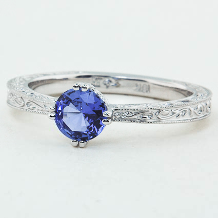 18K White Gold Sapphire True Heart Ring