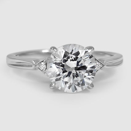 18K White Gold Olivetta Diamond Ring