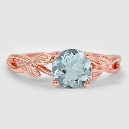14K Rose Gold Sapphire Budding Willow Ring