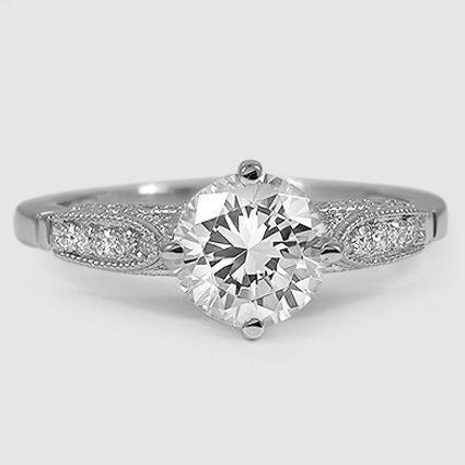 18K White Gold Heirloom Diamond Ring (1/4 ct. tw.)