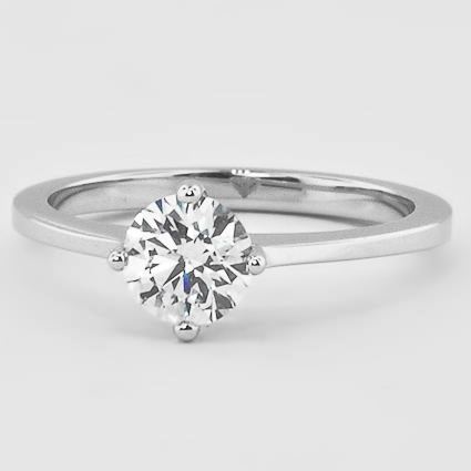 18K White Gold True North Ring