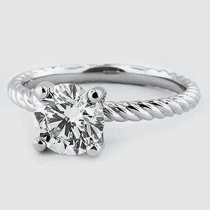 Platinum Entwined Ring