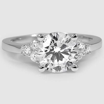 18K White Gold Trio Diamond Ring