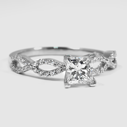 Platinum Infinity Diamond Ring