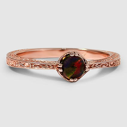 14K Rose Gold Sapphire True Heart Ring