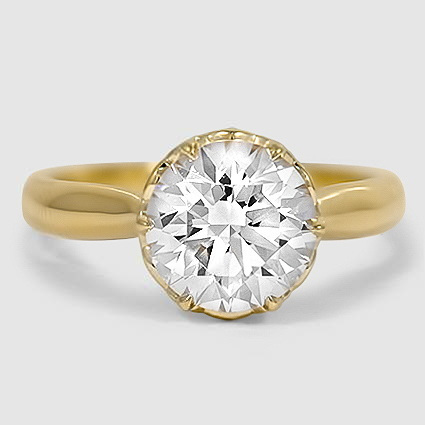 18K Yellow Gold Pirouette Diamond Ring