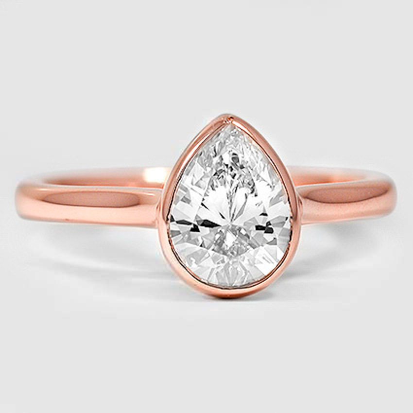14K Rose Gold Luna Ring