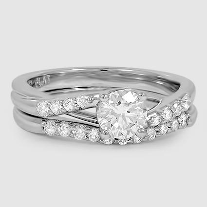 18K White Gold Chamise Diamond Matched Set