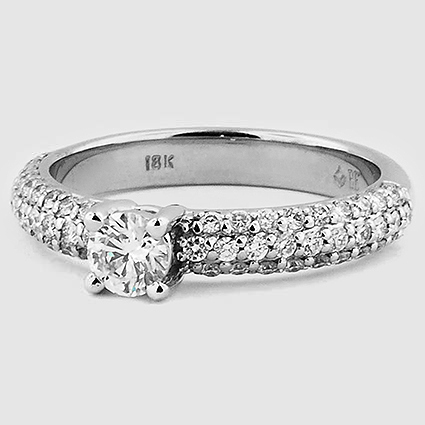 18K White Gold Pavé Diamond Multi Row Ring (1/2 ct.tw.)