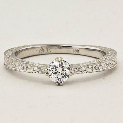 18K White Gold True Heart Ring