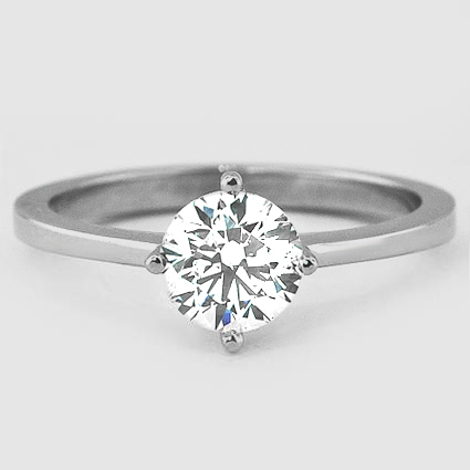 Platinum True North Ring