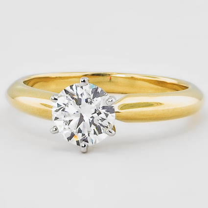 18K Yellow Gold Six-Prong Classic Ring