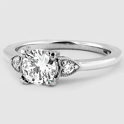 18K White Gold Aria Diamond Ring