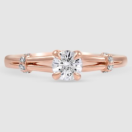 Pav Wrap Diamond Engagement Ring Odelia Brilliant Earth