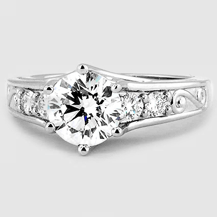 Platinum Art Deco Filigree Diamond Ring (1/4 ct. tw.)