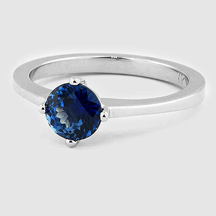 Platinum Sapphire True North Ring