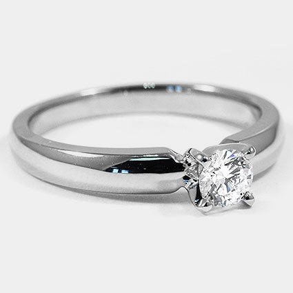 18K White Gold 3mm Comfort Fit Ring