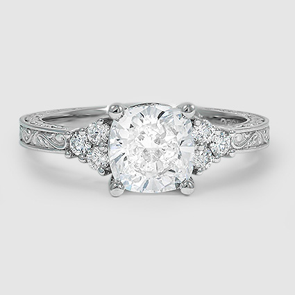 Platinum Adorned Trio Diamond Ring