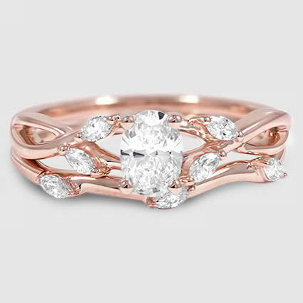 14K Rose Gold Willow Matched Set (1/4 ct. tw.)