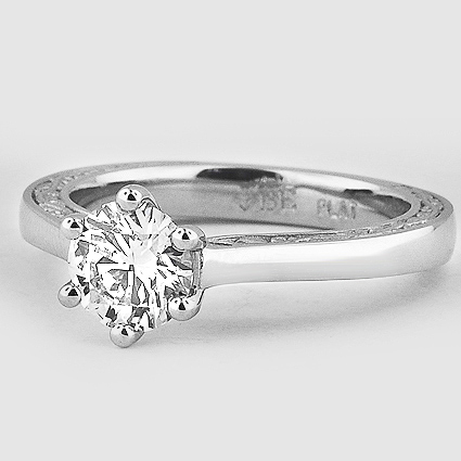 Platinum Secret Garden Ring